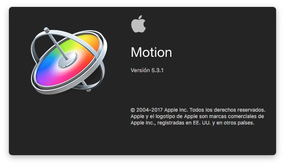 Software Motion Graphics Apple Motion 5