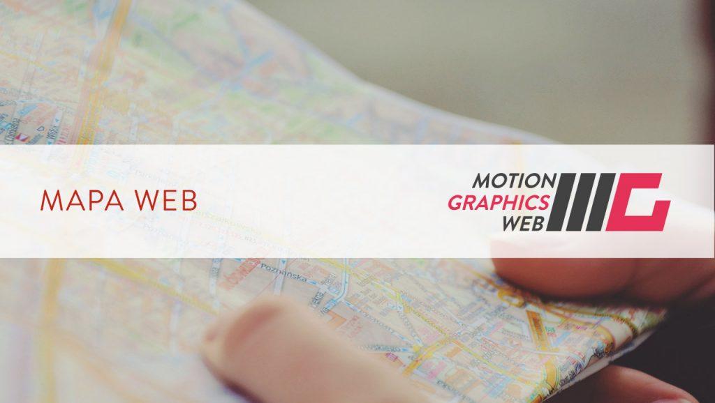 Mapa del sitio web motion graphics